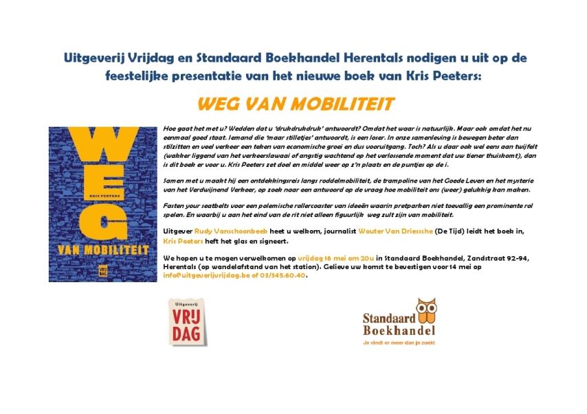 Uitnodiging Weg van mobiliteit Herentals