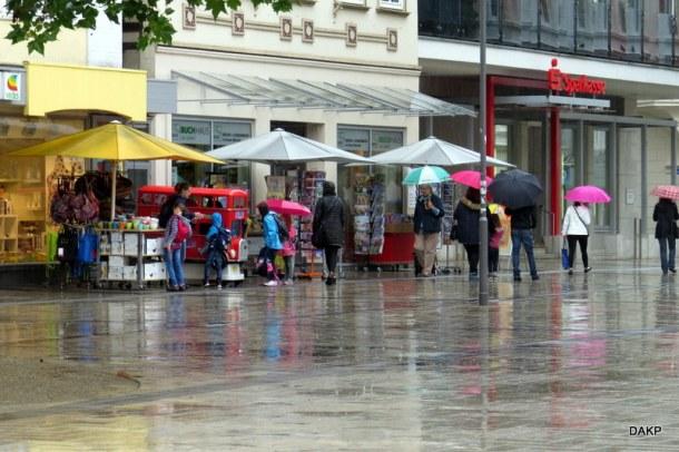 Detmold bij regen