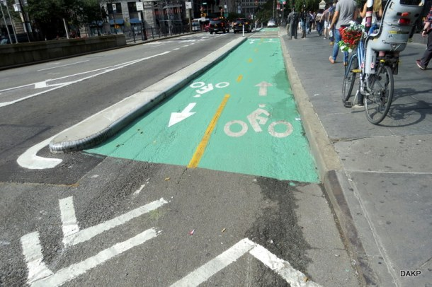 Fietspad in New York